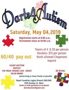 Darts4Autism- Dart Tournament